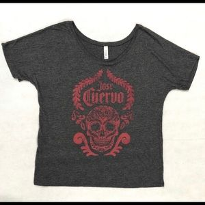 Jose Cuervo Skull Bella Women's Graphic Tee Scoop